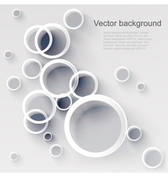 geometric applique circle background vector image