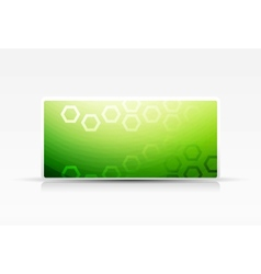 Green eco banner with geometrical pattern vector image vector image