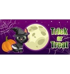 Halloween card trick or treat vector image