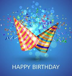 Happy birthday Hats and Confetti Surprise vector image vector image
