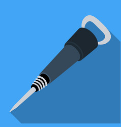 iron jackhammer a hammer for pounding rockstool vector image