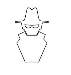 isolated spy hacker vector image