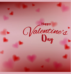 lovevalentines day with blur bokeh and sweet vector image vector image