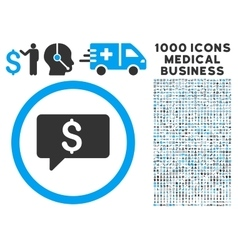 Money Message Icon with 1000 Medical Business vector image