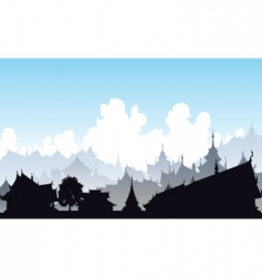 oriental city vector image