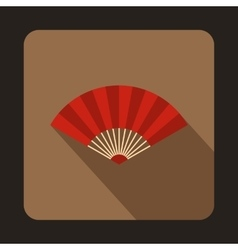 Red japanese fun icon flat style vector image