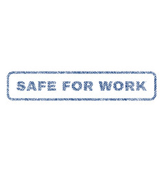 Safe for work textile stamp vector