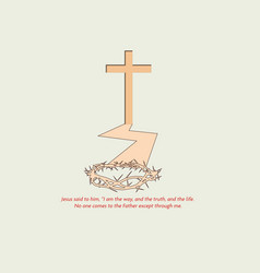 salvation through jesus vector image vector image