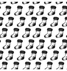 Seamless pattern with hand drawn socks vector image