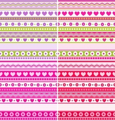Set of four Valentines Day backgrounds vector image