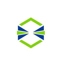 shape square game technology logo vector image