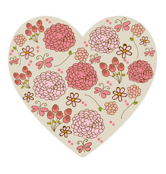 Silhouette vintage heart with colorful pattern of vector