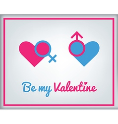 stValentine icons card 2 vector image