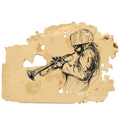 trumpeter vector image vector image