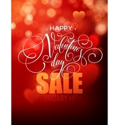 Valentines day sale poster template on abstract vector