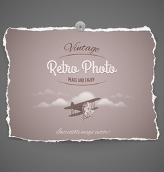 Vintage airplane ilustration vector