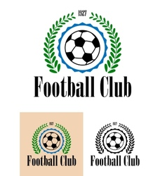 Football club tetro emblem vector