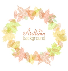 Autumn round frame vector