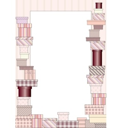 Vertical frame of gifts vector image