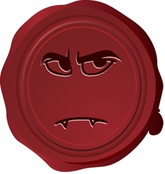 Wax seal smiley 29 vector