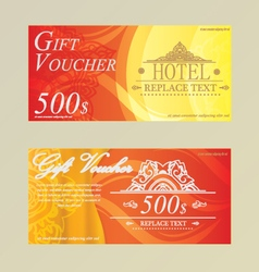 Gift certificate voucher coupon card hotelrestaura vector