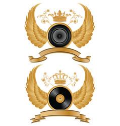 music heraldry vector image
