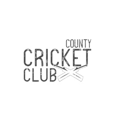 Cricket county club emblem and design vector