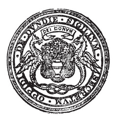 A royal and parliamentary burgh and seaport vector