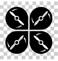 airdrone screws rotation icon vector image vector image