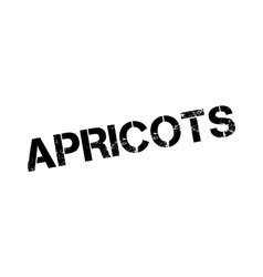 Apricots rubber stamp vector