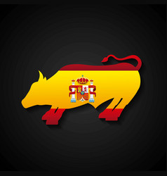 Bullfighting classic icon of spanish culture vector