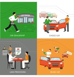 Car dealership design concept vector