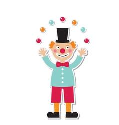Clown sticker vector