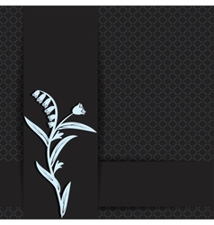 dark with floral vector image vector image