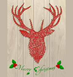 Deer thread christmas vector
