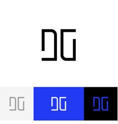 dg monogram logo from letters d and g vector image