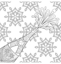 Explosion bottle on snowflakes vector image