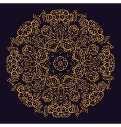 Gold indian mandala vector