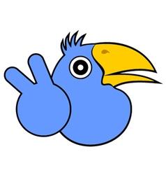 happy bird vector image vector image