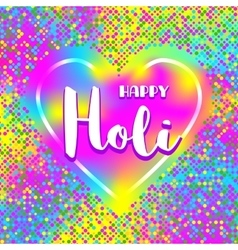 Happy Holi festival poster square card Colorful vector image vector image