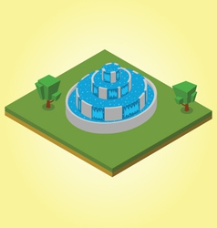 Isometric fountain vector