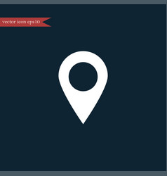 location icon simple vector image