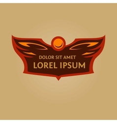 logo for a sports teamHeraldic logo with wings and vector image