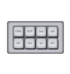 Modern abbreviation buttons vector