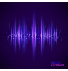 Music background with equalizer vector image