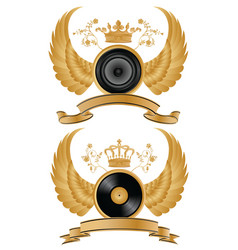 music heraldry vector image vector image