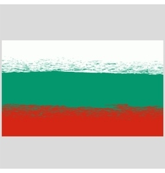 National Grunge Flag of Bulgaria Isolated vector image vector image