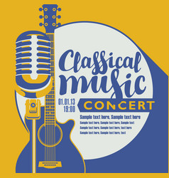 poster for a concert of classical music vector image
