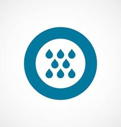 Rain bold blue border circle icon vector