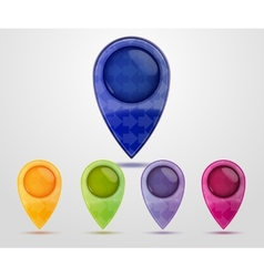 Set of Colorful Map Markers vector image vector image
